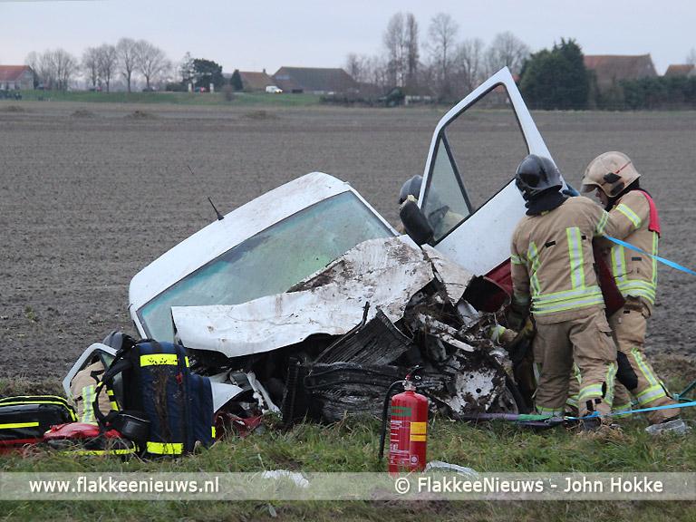 Foto behorende bij Twee gewonden door ongeval nabij de Schaapsweg
