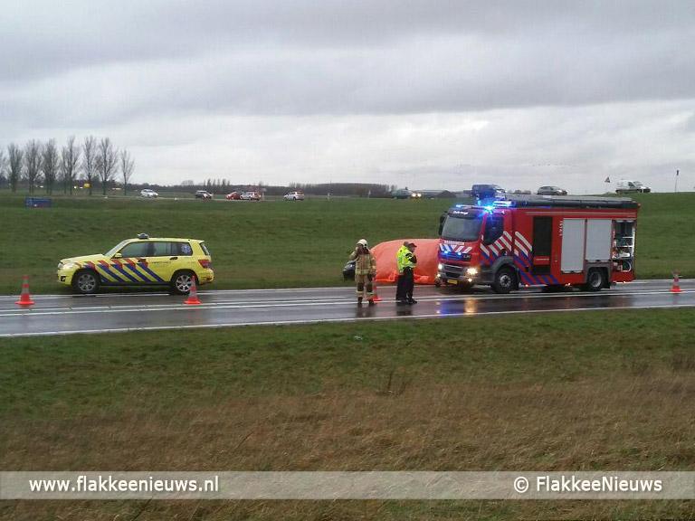 Foto behorende bij Dodelijk ongeval N59 bij Oude-Tonge