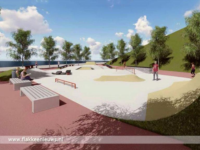 Foto behorende bij Bouw van skatepark is begonnen