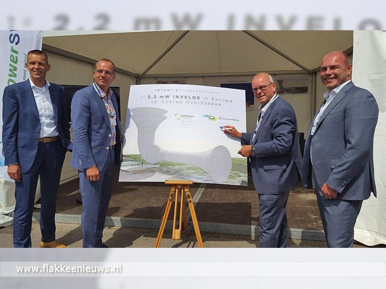 Foto behorende bij Eerste grote windtoeter van Europa komt op Goeree-Overflakkee