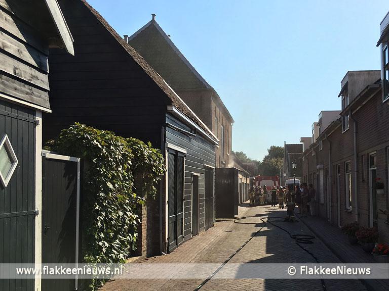Foto behorende bij Brand in koetshuis Sommelsdijk
