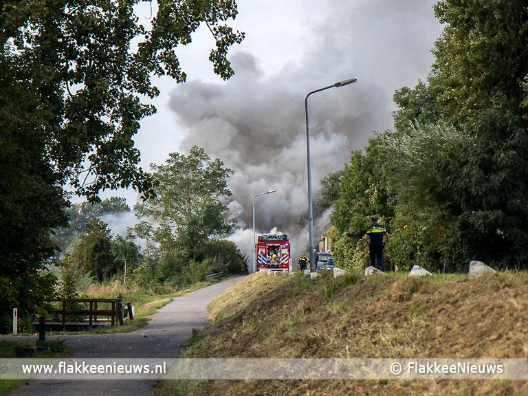 Foto behorende bij Middelbrand aan de Molendijk in Melissant
