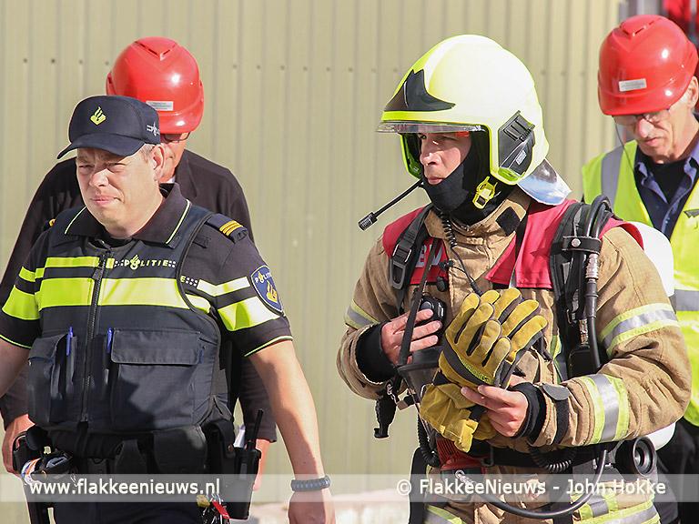 Foto behorende bij Timmerman vastgeniet bij eilandelijke brandweerwedstrijd