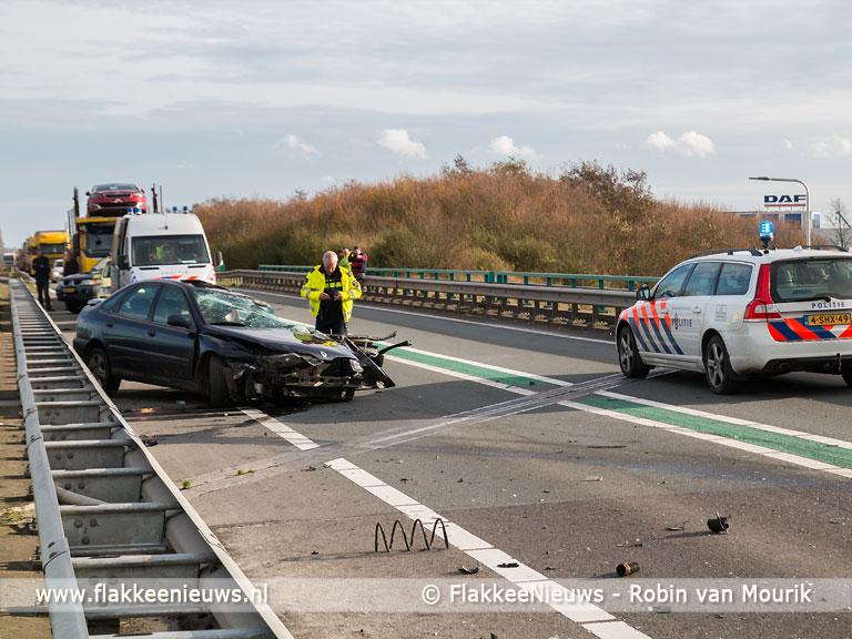 Foto behorende bij Afsluiting N59 door ongeval nabij Oude-Tonge