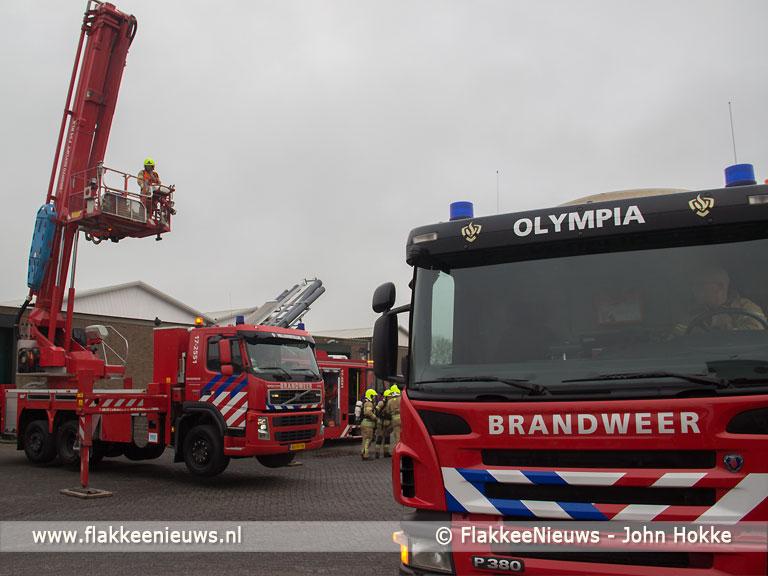 Foto behorende bij Brand in opslagloods bij Nieuwe-Tonge