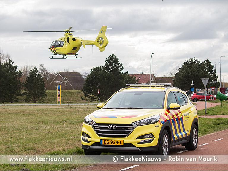 Foto behorende bij Traumaheli vliegt voor ongeval met fietser