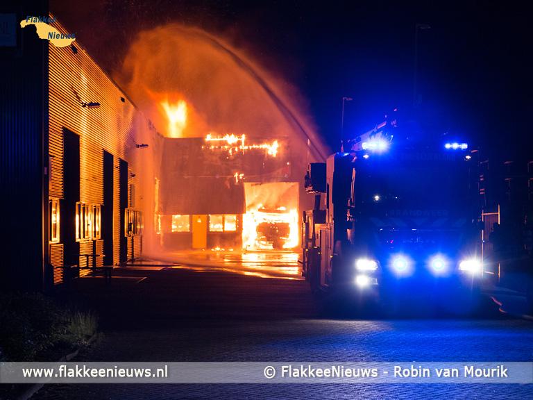 Foto behorende bij Uitslaande brand in bedrijfsverzamelgebouw