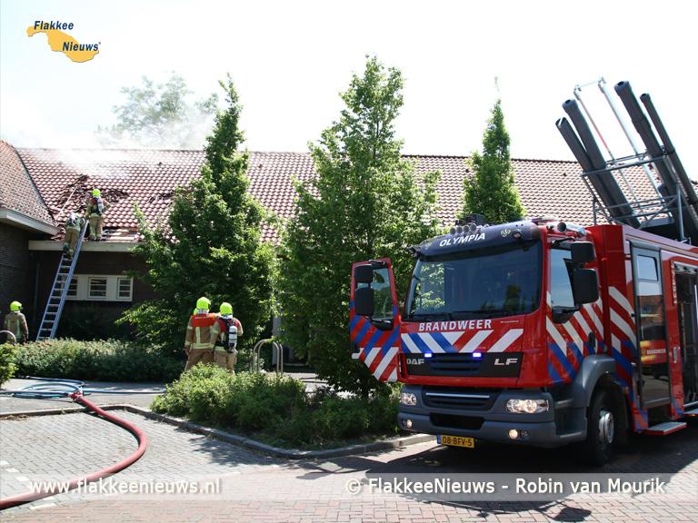 Foto behorende bij Brand in het dak van de Dillenburg
