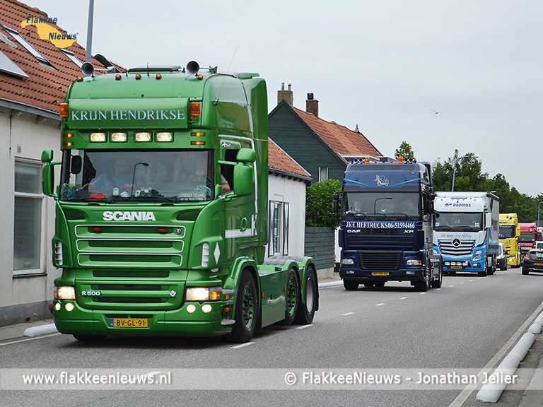 Foto behorende bij Ook in 2017 veel belangstelling voor de Truckrun