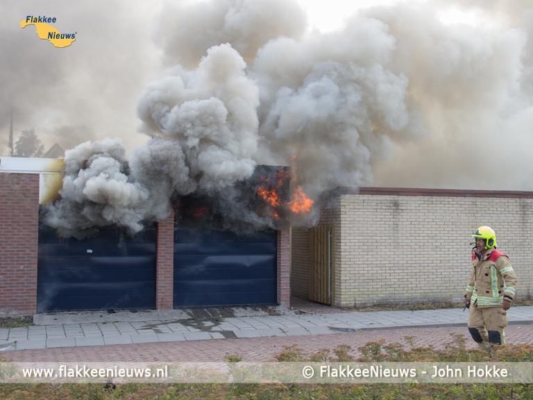 Foto behorende bij Brand in schuur Ooltgensplaat