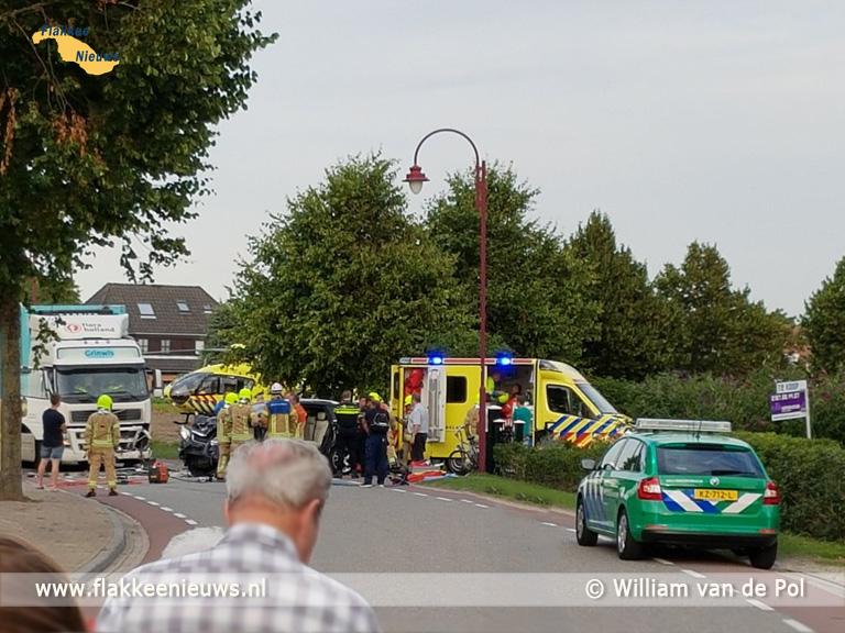 Foto behorende bij Persoon gewond bij ongeval met vrachtwagen in Ouddorp