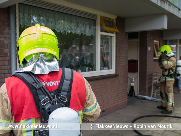 Foto behorende bij Wasmachine brand snel onder controle