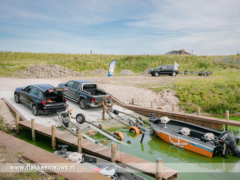Foto behorende bij Feestelijke opening vernieuwde trailerhelling Galathese Haven