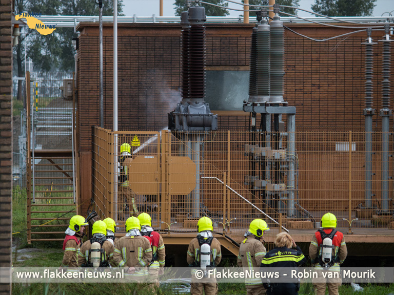 Foto behorende bij Brand bij verdeelstation van Stedin