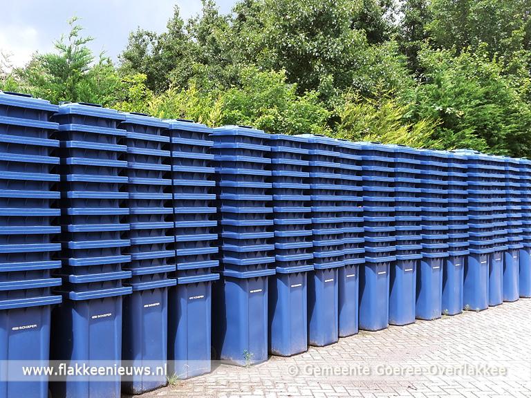 Foto behorende bij Blauwe papiercontainers voor heel Goeree-Overflakkee