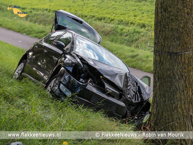 Foto behorende bij Auto tegen boom bij Stad aan 't Haringvliet