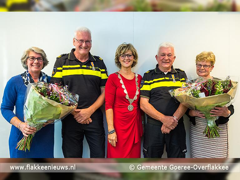 Foto behorende bij Vrijwillige politieagenten ontvangen Koninklijke onderscheiding
