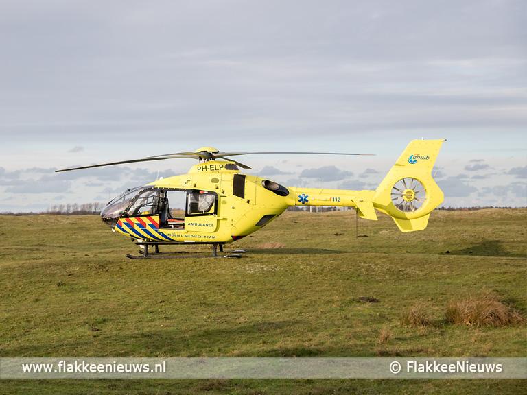 Foto behorende bij Traumaheli vliegt voor ongeval met fiets