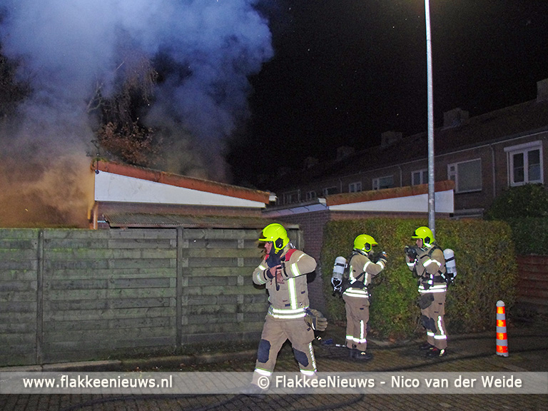 Foto behorende bij Buurman in actie bij schuurbrand