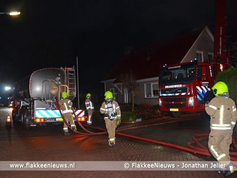 Foto behorende bij Grote brand in schuur Melissant