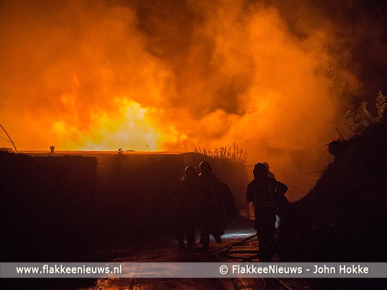 Foto behorende bij Chalet in brand bij Fort Prins Frederik