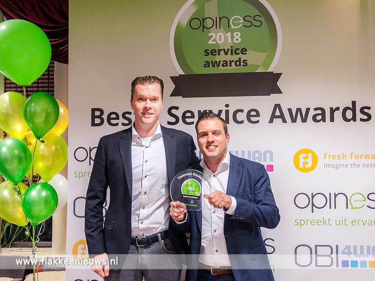 Foto behorende bij Tieleman Keukens winnaar Beste Service Award Keukenbranche 2018