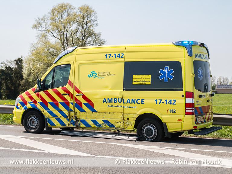 Foto behorende bij Ambulance raakt betrokken bij ongeval