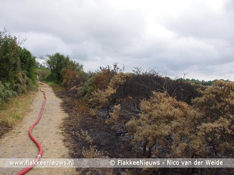 Foto behorende bij Brand op de Slikken van Flakkee
