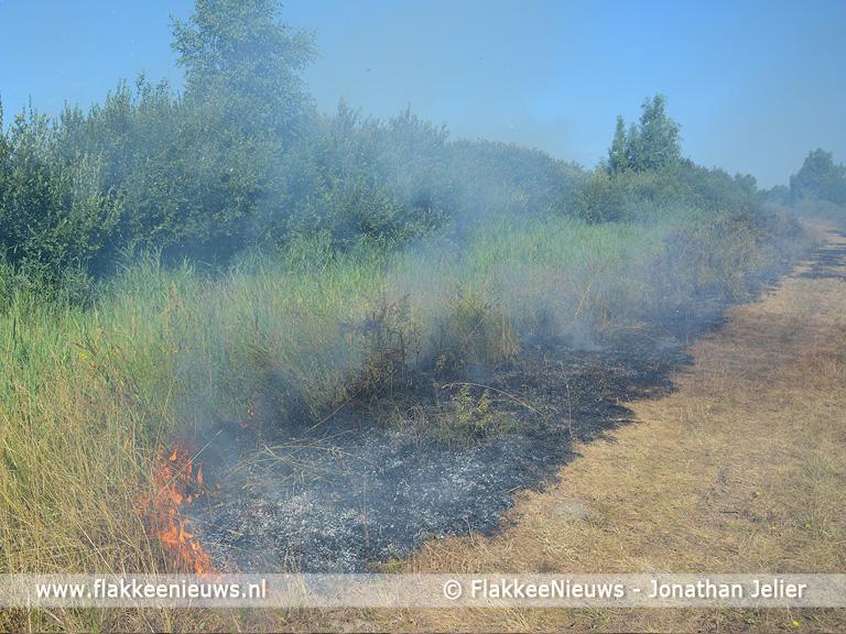Foto behorende bij Wederom brand op de Slikken van Flakkee