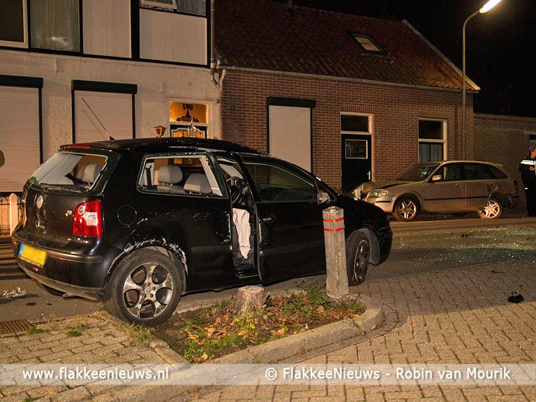 Foto behorende bij Auto slaat over de kop in Herkingen
