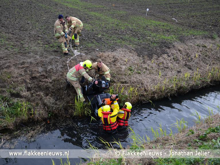 Foto behorende bij Vrouw uit sloot gehaald Zuiddijk Herkingen