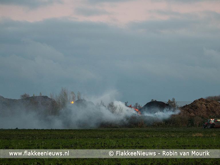 Foto behorende bij Brand bij recyclingbedrijf Oude-Tonge
