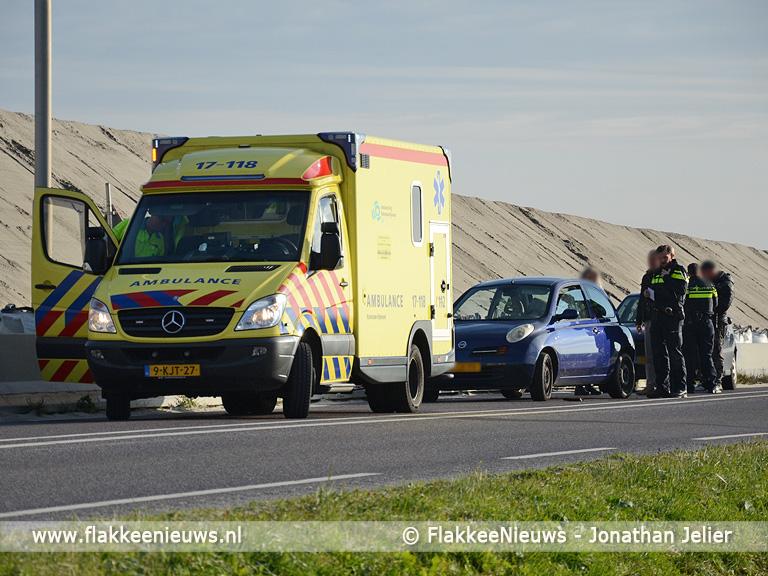 Foto behorende bij Rijbaan N215 Dirksland-Melissant tijdelijk afgesloten door ongeval