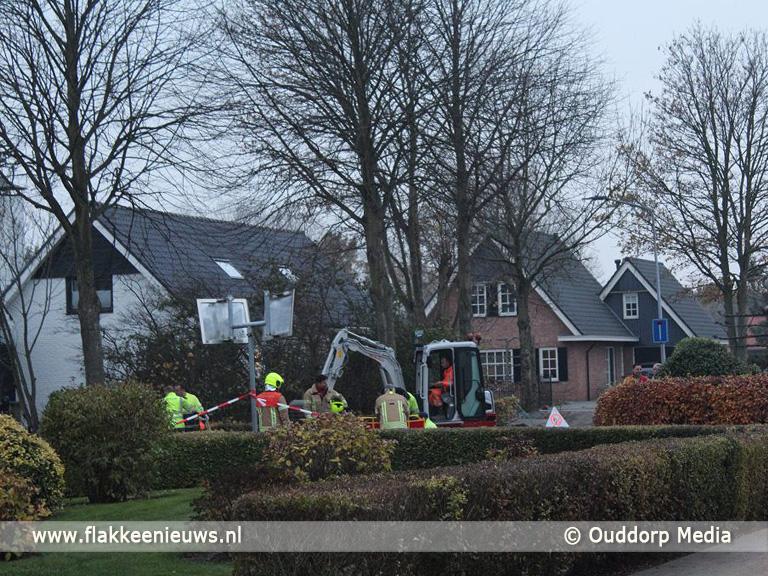 Foto behorende bij Ontsnapt gas trekt door riolering Duinkerkerweg Ouddorp