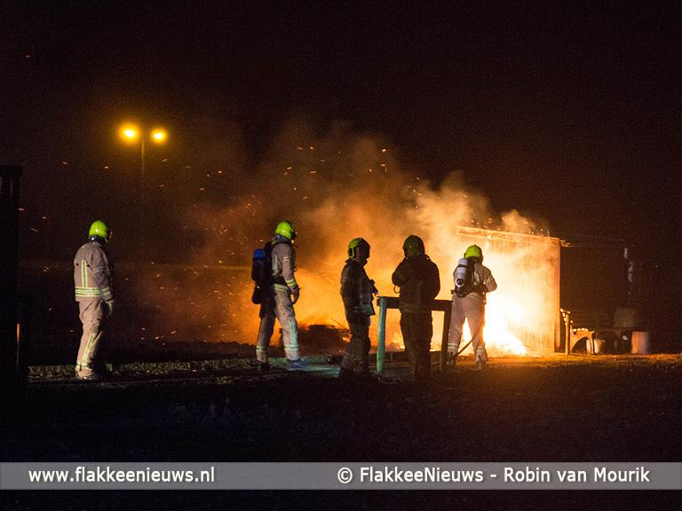 Foto behorende bij Schuurtje in brand, politie zoekt getuigen