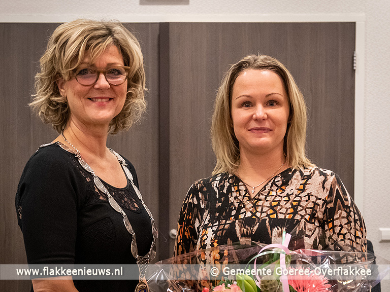 Foto behorende bij Tea Both wethouder en Liesbeth Keijzer raadslid gemeente Goeree-Overflakkee