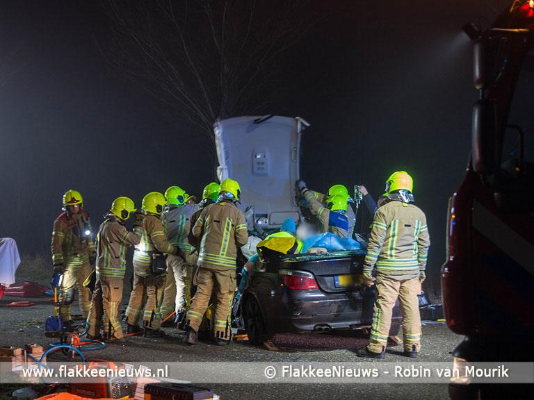 Foto behorende bij Hulpdiensten bevrijdden zwaargewond slachtoffer uit auto