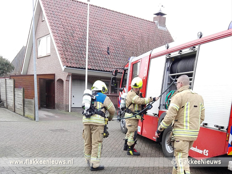 Foto behorende bij Woningbrand in Herkingen