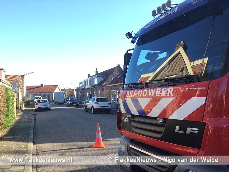 Foto behorende bij Groot gaslek bij woning in Sommelsdijk