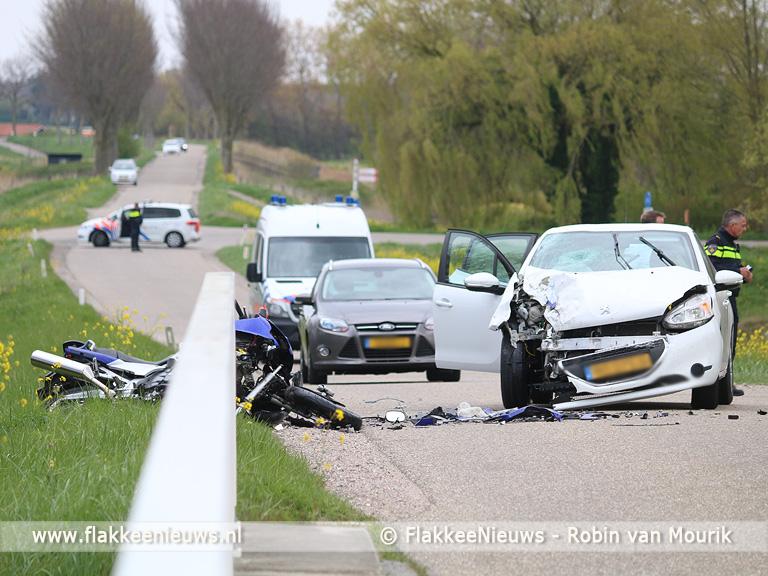 Foto behorende bij Motorrijder overleden bij ongeval Oude-Tonge
