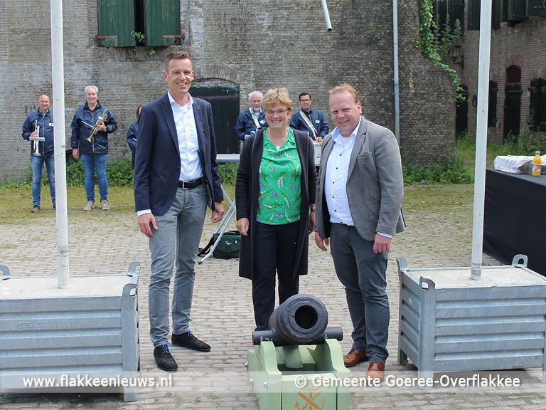 Foto behorende bij Fort Prins Frederik krijgt kanon cadeau van Fort Sabina