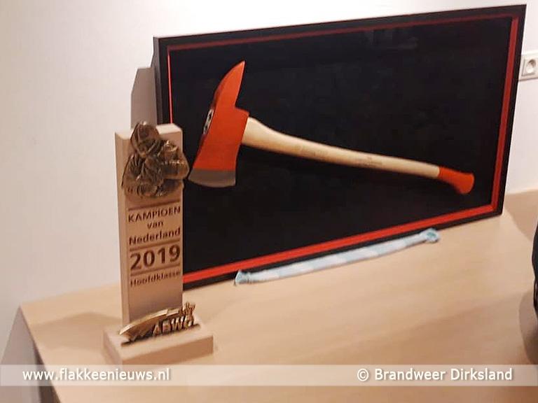 Foto behorende bij Brandweer Dirksland kampioen van Nederland