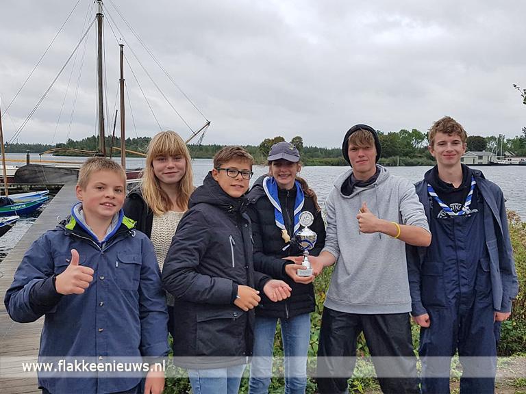 Foto behorende bij Waterscouts behalen 2e plaats op Landelijke Scouting Zeilwedstrijden