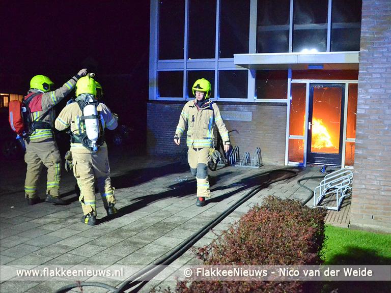 Foto behorende bij Bewoners opgeschrikt door brand in portiek