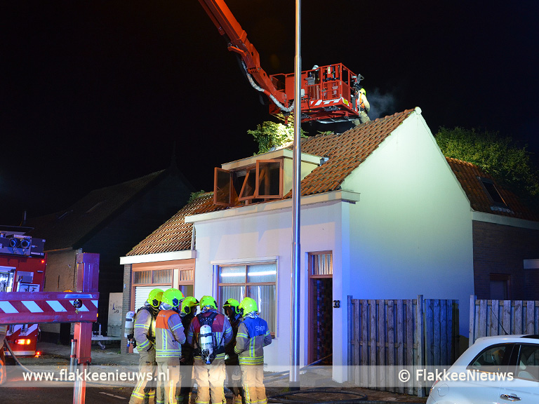 Foto behorende bij Brand in woning, stoffelijk overschot aangetroffen