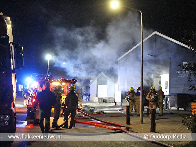 Foto behorende bij Brand in loods Ouddorp