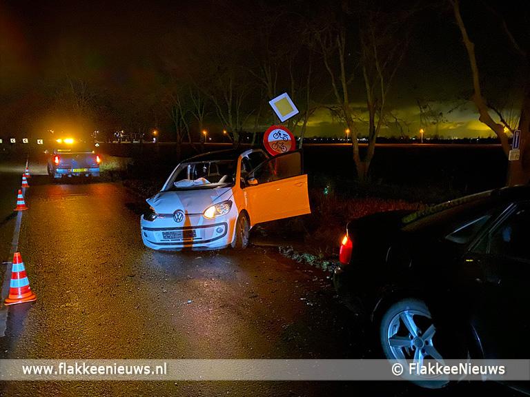 Foto behorende bij Frontale botsing op Langeweg Ooltgensplaat