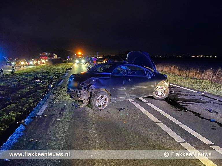 Foto behorende bij Verkeershinder op N215 Middelharnis door ongeval