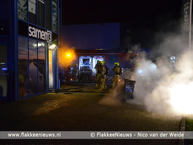 Foto behorende bij Brand op industrieterrein Oude-Tonge