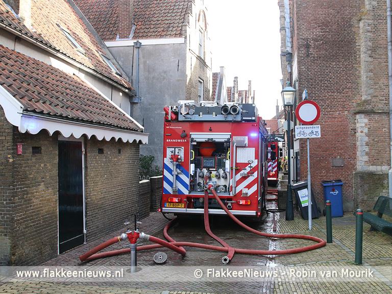 Foto behorende bij Brand in monumentaal pand Sommelsdijk